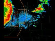 Surowy burza Pogodowego radaru czasu upływ