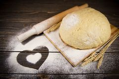 Surowy ciasto Fotografia Stock