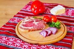 Surowy czytający mięso i składniki Zdjęcia Royalty Free