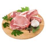surowy deskowy tnący świeży mięso Obrazy Royalty Free