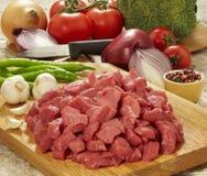 surowy deskowy tnący świeży mięso Obraz Royalty Free