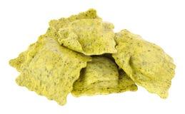 Surowy groch I Uwędzony Pancetta pierożek Zdjęcia Stock