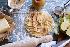 Surowy jabłczany tarta Zdjęcie Royalty Free