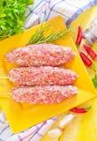 Surowy kebab Zdjęcia Stock