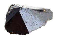 surowy kryształ kasyteryt na bielu (kruszec cyna) obraz stock