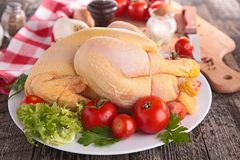 surowy kurczak Obraz Royalty Free