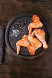Surowy Marynowany kurczak dla BBQ zdjęcie royalty free