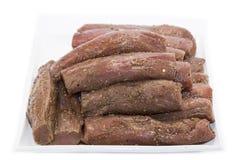 Surowy mięso i pikantność obrazy stock