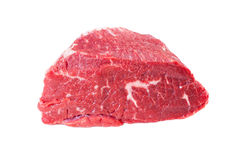 Surowy mięso nad białym tłem fotografia royalty free