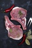 Surowy mięso, wołowina stek Obrazy Stock