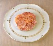 Surowy mięso w marynacie Obrazy Stock