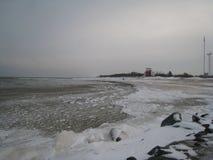 Surowy morze bałtyckie w Styczniu Fotografia Stock