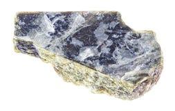 surowy muscovite łyszczyka kamień na bielu (pospolity łyszczyk) fotografia royalty free