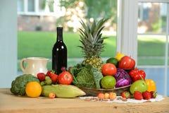 Surowy produkt spożywczy na stole Obrazy Royalty Free