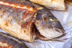 Surowy rybi jedzenie Obraz Royalty Free