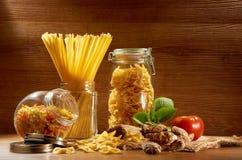 surowy spaghetti fotografia royalty free