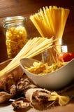surowy spaghetti obrazy stock