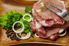 surowy stek Zdjęcie Royalty Free