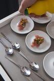 Surowy tuńczyk i warzywo Zdjęcie Royalty Free