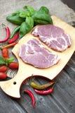 surowy wieprzowina stek zdjęcia royalty free
