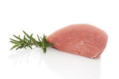 Surowy wieprzowiny mięso na białym tle. fotografia royalty free