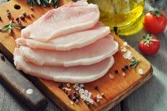Surowy wieprzowiny mięso Fotografia Royalty Free