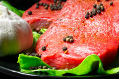 surowy wołowina stek Zdjęcia Stock