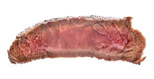 Surowy wołowina stek, kawałek odizolowywający na białym tle mięso obrazy royalty free