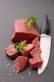 Surowy wołowina sześcian Obraz Stock