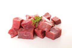 Surowy wołowina sześcian Obrazy Stock
