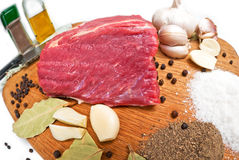 surowy wołowiny mięso obraz royalty free