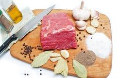 surowy wołowiny mięso obraz stock