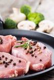 Surowy wołowina stek. Fotografia Royalty Free