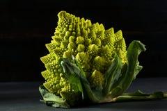 Surowy Zielony Organicznie Romanesco Zdjęcie Stock