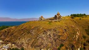 Surp Arakelots en Astvatsatsin-kerken in de luchtmening van Armenië, godsdienst royalty-vrije stock afbeelding