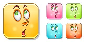 Surpised Emoticons collection Stock Image