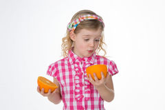 Surpised female child Stock Image