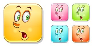 Surpised Emoticons collection Royalty Free Stock Photos