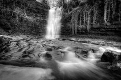 Surplomb de cascade de balises de Brecon Photographie stock