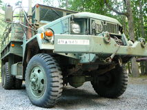 Surplus Army Truck. Front view of Surplus Army Truck stock photos