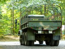 Surplus Army Truck. Rear view of Surplus Army Truck royalty free stock photography