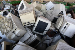 Surplus Electronics. Plant for recycling old computers Royalty Free Stock Image