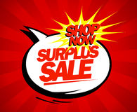 Surplus sale pop-art design. Royalty Free Stock Images