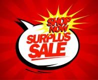 Surplus sale pop-art design. Surplus sale design in pop-art style Royalty Free Stock Images