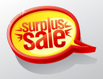 Surplus sale speech bubble. Royalty Free Stock Photos