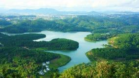 Surpreendendo, panorama bonito, curso de Dalat, Vietname Imagens de Stock