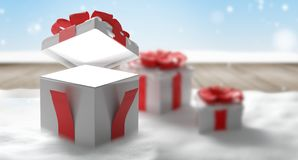 Surpresa aberta 3d-illustration do presente do Natal ilustração do vetor