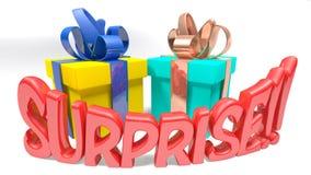 Surpresa das caixas de presente! - rendição 3D Foto de Stock