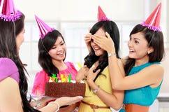 Surpresa do aniversário Imagens de Stock Royalty Free