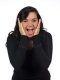 Surpresa e excitamento do adolescente Fotos de Stock Royalty Free
